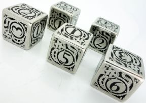 Metal D6 Steampunk Dice Set
